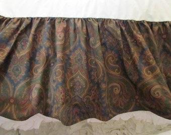 Ralph Lauren Brianna Eliabeth Paisley Twin Bed Skirt Dust Ruffle