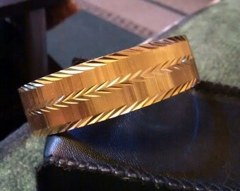 Monet Gold Plate Diamond Cut Textured Bracelet
