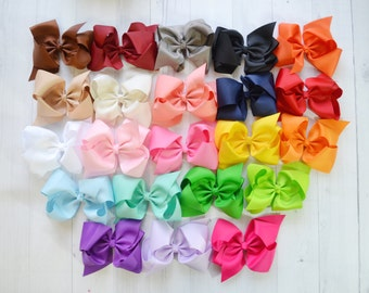 """LARGE 5"""" hair bow, DIY hair bow, Unfinished hair bow , headband supply, wholesale bows, for DIY no clip."""