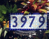New Home / Housewarming Gift / Mosaic Address Sign / Personalized Gift