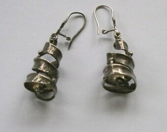 Vintage Israeli Silver Earrings