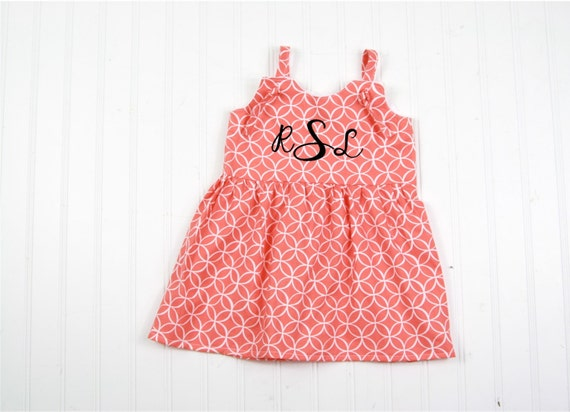 Items similar to Baby Girls Dress Girls Dresses Coral