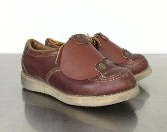 Steel Toe Shoes - Vintage Work Boots - Ladies Size 7