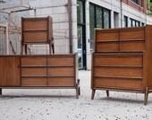 Mid Century Modern Dresser Set by United Furniture