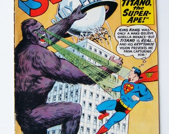 1960 Superman DC Comic Book Featuring Titano the Super-Ape! No. 138