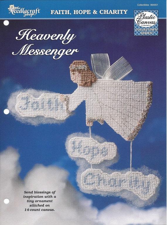 Plastic Canvas Pattern Heavenly Messenger Angel Faith