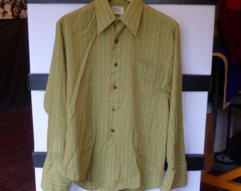 Vintage HAMPSHIRE HOUSE Van Heusen Striped Shirt Button Up England Longsleeve London Traditional Suit Casual