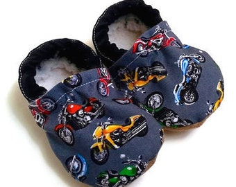 SALE - motorcycle shoes baby boy shoes black shoes motorcycle slippers soft sole shoes black toddler shoes toddler boy motorcycle baby shoes