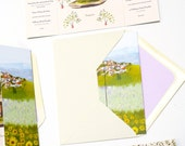 French Provincial hillside custom invitation with fold out gate