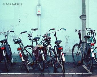 Industrial Decor Print, Travel Art, Bicycle Photography, Industrial Art, Street Print, Bike Wall Art, Urban Photography