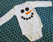 Long-Sleeved Snowman Onesie - Baby - Christmas - Holiday - Winter