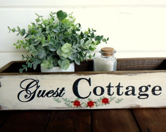 Country Rustic Vintage Aged Farmhouse Country Cottage Box
