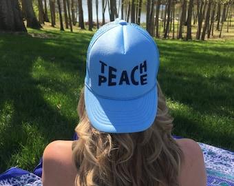 Teach Peace || Sky Blue Hat