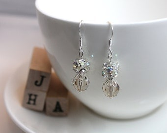 Wedding/Bridal/Bridesmaid Swarovski crystal earrings