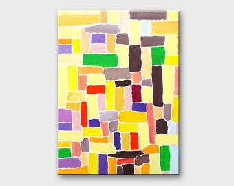 Abstract canvas art painting Abstract Geometric art Acrylic geometric paintings on canvas Geometric canvas art Original art painting