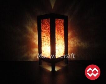 Asian Oriental Red White Mix Fiber Zen Art Bedside Floor Table Lamp Desk Paper Light Shades Gift Living Bedroom Furniture Home Decor