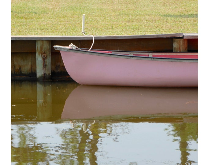 Pink Boat Photograph