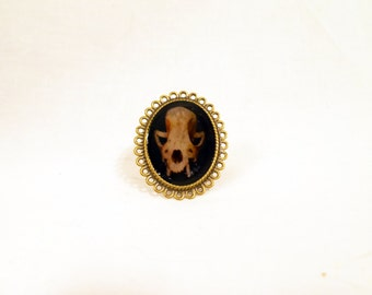 Animal Skull Ring - Skull Ring - Animal Skull - Halloween Ring - Skull Jewelry -Ring- Jewelry - Adjustable Ring - Bronze Ring