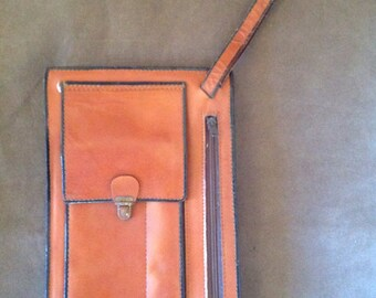 Vintage Barroon Leather Wristlet Clutch
