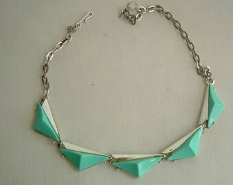 Turquoise Thermoset Choker Necklace