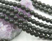 "Lot of 10 Strands 8mm Matte Black Onyx Beads Round 15.5"" (BH3030)"