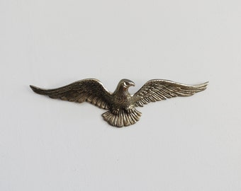 Vintage Brass Bald Eagle Wall Hanging