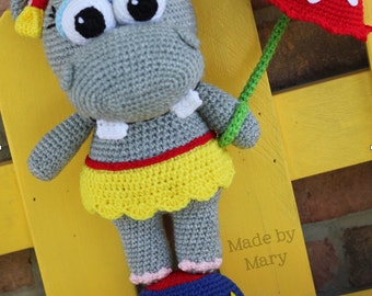 PDF PATTERN: Penelope the Hippo **Crochet Pattern Only, Not Actual Doll!** Crochet Hippo