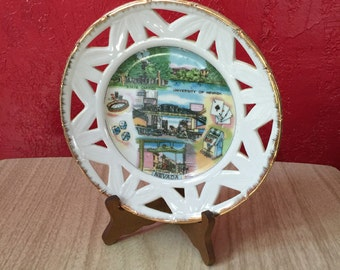 Nevada State Souvenir Plate Wall Hanging ~ Reno, Virginia City