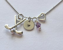 Golf Initial Necklace - Charm Necklace, Necklace Charm, Golf Gifts, Golf Gift Ideas, Affordable Gifts, Golf lovers Gifts, Affordable Golf