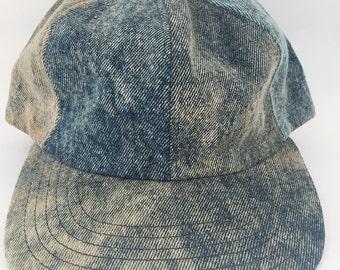Deadstock Acid Wash Denim Baseball Hat NWT 1980s
