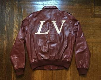 legit vintage X members only leather jacket mens size 44 (large) long