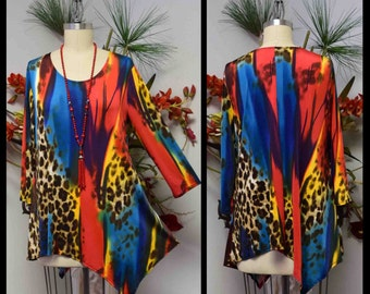 Dare2bstylish Asymmetrical Love Bug Versatile Plus size available Tunic for Travel and Much More. M to 3XL
