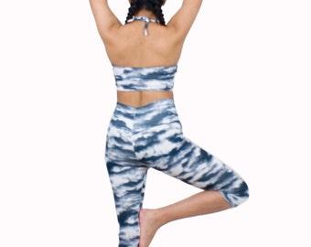 Digital Print Leggings Capri Length Yoga Pants Active Wear Fashion