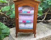 Shabby Chic/French/Cottage Blanket Hutch - Dollhouse Miniature