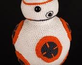 50% Off - BB8 Star Wars Inspired Crochet Pattern - PDF file - INSTANT DOWNLOAD