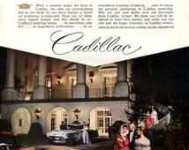 1956 Cadillac Ad, Greenbrier White Sulphur Springs West Virginia, Lanvin Castillo, Wall Decor
