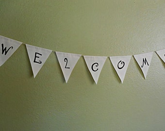Welcome Banner Welcome Bunting Wedding Banner Welcome Sign Birthday Welcome Banner Party Welcome Banner Wedding Decor