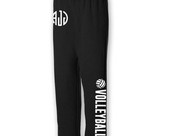 Volleyball Adult Sweat Pants with Custom Monogram OR Number