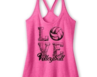 Love Volleyball Tank Volleyball Shirt