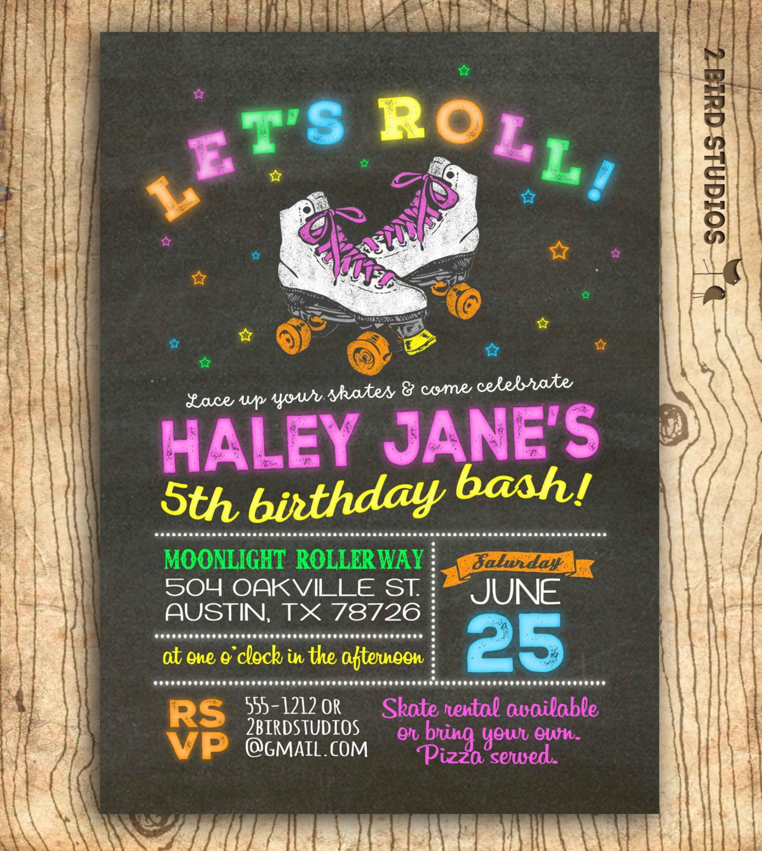 Roller Skating Party Invitations Roller Skating Invitation