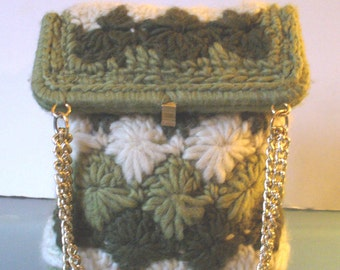 Made in Italy  Crochet Wool Shoulder Bag
