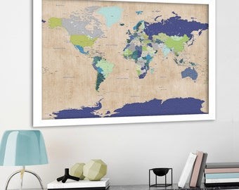 Detailed Political map World Map Map with Country Borders