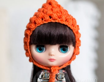 Pixie gnome helmet for Middie Blythe, orange