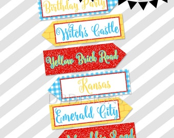 Wizard of Oz Directional Arrows - INSTANT DOWNLOAD