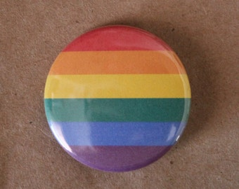 Gay Pride Rainbow Magnet or Pinback Button