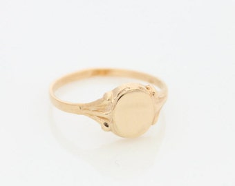 Personalized initial ring • Gold signet ring • Custom gold ring • Monogram ring • Name ring • engraved ring • Promise ring