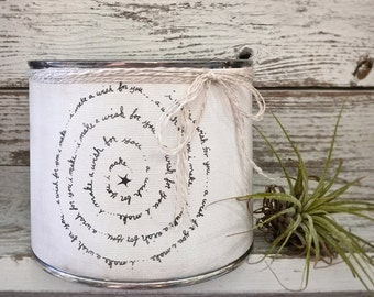 SCENTED SOY CANDLE - Wrapped In Our Canvas Art Print... 'i make a wish for you...'