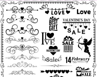 Valentines day clipart, text dividers, love clipart, Heart clipart, Love clip arts, Digital Clip Art, Hearts Clipart, Digital heart 0809