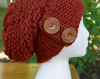 Cinnamon Roll Chunky Slouchy Hat - LOTS of Color Options! (Black, Purple, Green, Red, and MORE!)