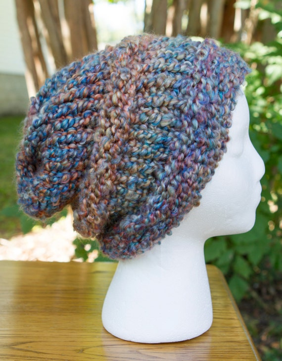 Boucle Slouchy Hat in Painted Desert